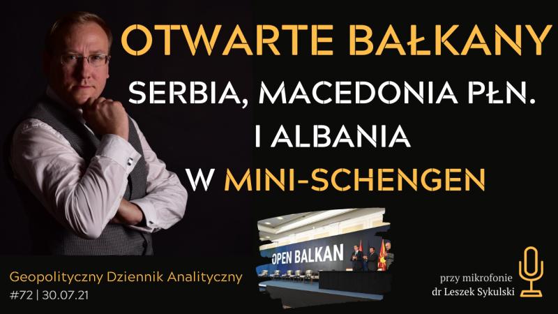 """Inicjatywa Otwarte Bałkany – Serbia, Macedonia Północna i Albania w """"mini-Schengen"""""""