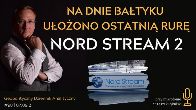 Na dnie Bałtyku ułożono ostatnią rurę Nord Stream 2