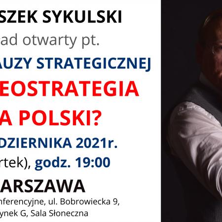 Wykład otwarty w Warszawie – 21 X 2021