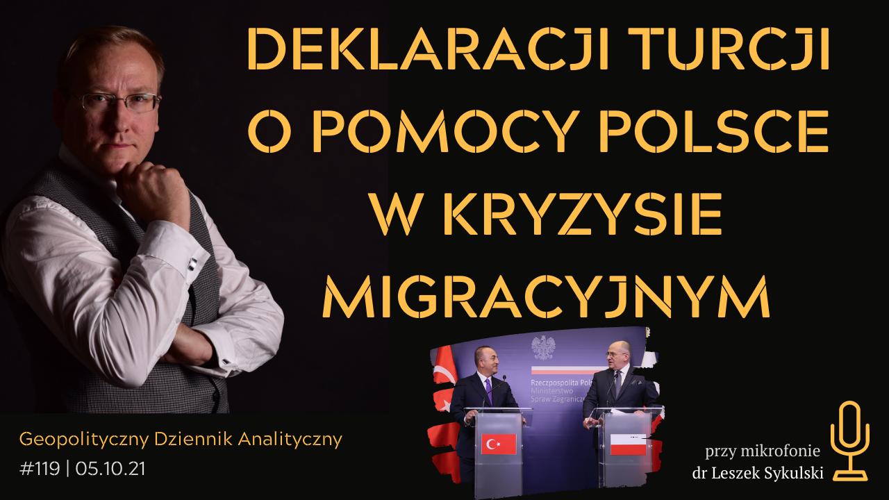 Deklaracja Turcji o pomocny Polsce w kryzysie migracyjnym